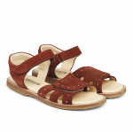 Sandal with velcro and studs