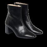 Block heel boot with zipper