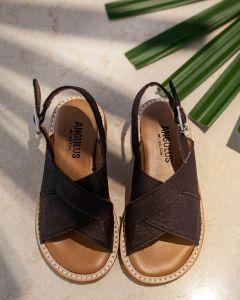 VEGAN sandal with buckle closure
