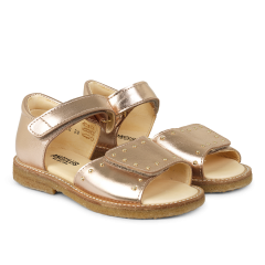 Sandal with velcro closure and studs