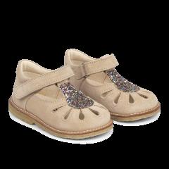 Starter sandal with adjustable velcro closure