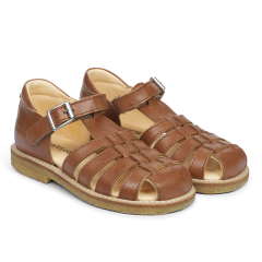 Sandal with velcro closure and buckle