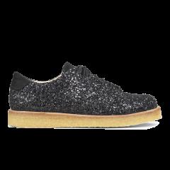 Sneaker in glitter with plateau sole.