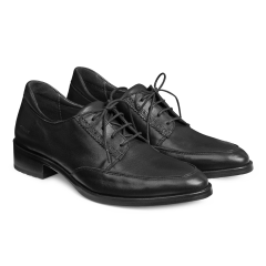 Shoe with laces and soft heelcap