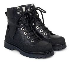 TEX-boot with laces and inside zipper