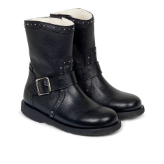 TEX-Boot with studs and inside zipper