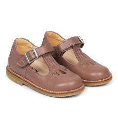 Mary Janes with velcro and buckle detail