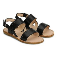 Sandal with buckle and studs