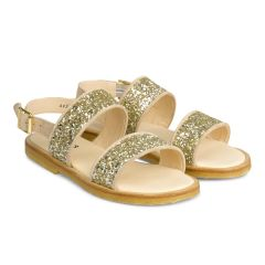 Sandal with buckle and glitter