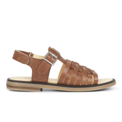 Sandal with buckle and velcro