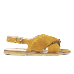 Sandal with ruffles