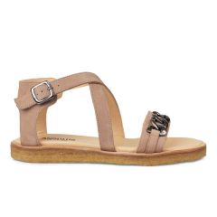 Sandal with chain and buckle