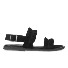 Sandal with ruffles and buckle
