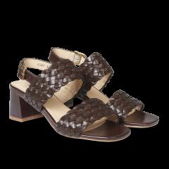 Sandal with block heel