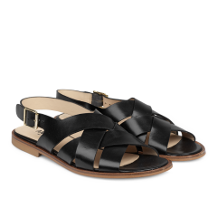 Sandal with buckle.