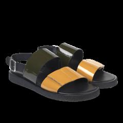 Sandal with plateau sole