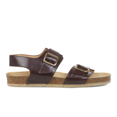 Foot bed sandal with buckle
