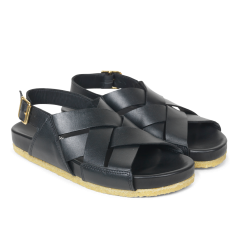 Footbed sandal with buckle