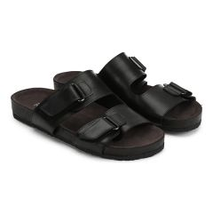 Footbed sandal with velcro straps