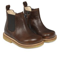 Starter chelsea boot with elastic and zipper