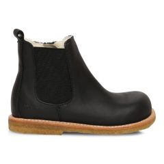 Chelsea Boot with wool lining, elastic and zipper