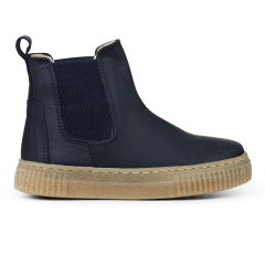 Chelsea boot with soft rubber sole