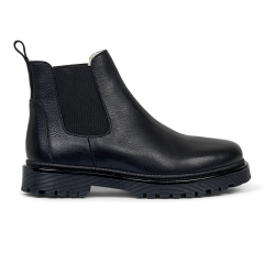 Chelsea Boot with track sole and wool lining