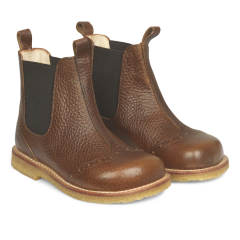 Chelsea boot with hole pattern