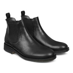 Classic chelsea boot w. elastic slip-on design