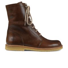 lace-up boot w. zipper and wide fit