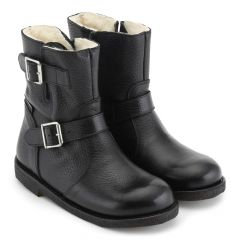 TEX-Boot with buckles and inside zipper