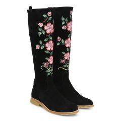 Boot w embroidery & zip