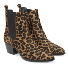 Heeled boot with zipper