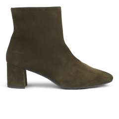 Block heel boot with zipper