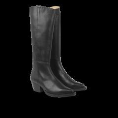 High-leg boot.