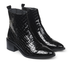 Boot with zipper.