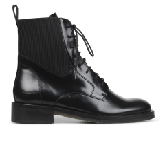 Lace up boot with elastic