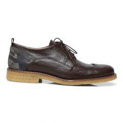 Lace-up shoe w hole pattern